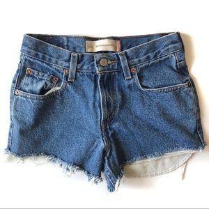 Levi's 550 High Rise Cut Off Shorts